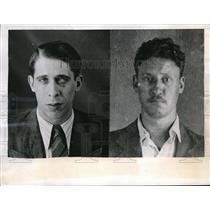 1944 Press Photo Benito Ramon Amorin, Juan OSchurer, Buenos Aires, German spies