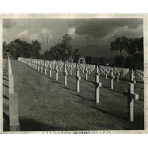 1928 Press Photo of The Stone Crosses of Suresnes American Cemetery in Paris