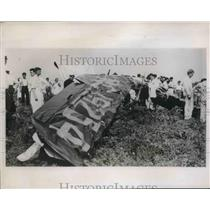 1938 Press Photo Pittsburgh, Pa wreckage of Dick Coulter , Elmer Kertiplane
