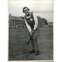 1931 Press Photo Mary Morris, Cpot of field hockey, Scottish Girls Club