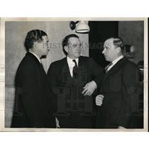 1936 Press Photo Bucky Harris Senators Steve ONeil Indians Jimmy Dykes White Sox