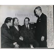 1947 Press Photo Boston Red Sox Eddie Collins A.B. Chandler - nes01632