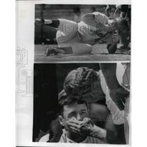 1966 Press Photo New York Mets 1st Baseman Dick Stewart Injured - nes02549