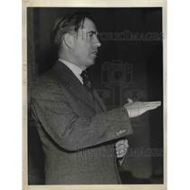 1936 Press Photo Secretary of Agriculture Henry A Wallace in New York