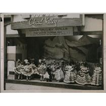 1932 Press Photo British Industries display of dolls at Olympia, London