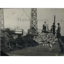 "1923 Press Photo Australian Fishermen ""Almost"" Caught Poaching near San Pedro"