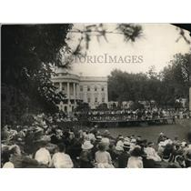 1921 Press Photo Marine Band Concert on Lawn of White House, Washington, D.C.