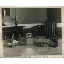 1930 Press Photo Doll furniture by Mr & Mrs Chas L Wood - neb46748