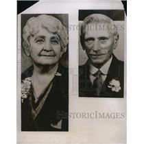 1935 Press Photo Second Silver Wedding Anniversary Everett Washington