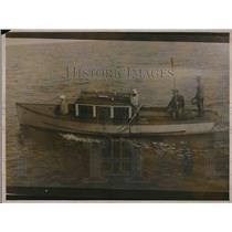 1923 Press Photo Four Men on Fishing Boat - neb09079