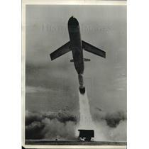 1958 Press Photo Booster Rocket Martin Matador Blasts Skyward