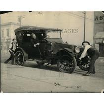 1923 Press Photo Big Ben Franklin, San Francisco Daily News old time racer