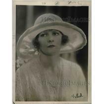 1922 Press Photo Hat creation of mauve crinoline & crepe de chine