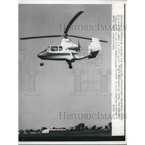 1960 Press Photo LA, Caif. the Umbaugh-18 rotary wing aircraft demonstrated