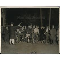 1930 Press Photo J Hemenway, R Hall, F Richardson, S Barton Harvard Bicycle Race