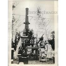 1929 Press Photo monument of Emperor Meiji of Japan unveiled