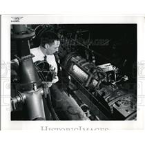 1957 Press Photo Research to find new fuels for planes at Lewis Aeronautics