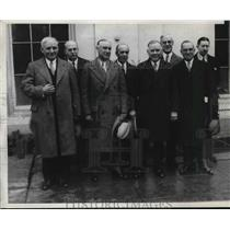 1929 Press Photo Labor Leaders Edward Gaynor, William Green, William Collins