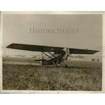 1928 Press Photo Potez Biplane, French Pilots De Marmier, Favreau Fly to Siberia