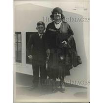 1930 Press Photo Lola De Galindo Wife Of Panamanian President & Her Son Anibal
