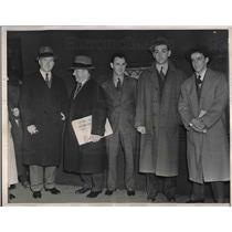 1939 Press Photo Dan Tierney, Paul Kritchell, Herbert WHite, Marius Russol