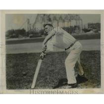 1927 Press Photo William J. Dawe of Chicago, Oldest cricket player in America.