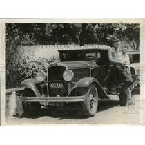 1932 Press Photo Calvin JOnes Pete Crawford Indiapolis Speedway