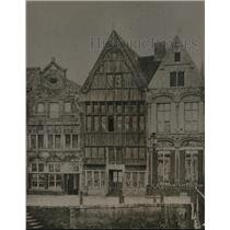 1918 Press Photo Maison Du Quai Aux Avoines Malines City Belgium