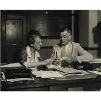 1924 Press Photo Mrs. Banister Asst Dir Women's Div Ho McClintic Dir Speakers