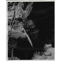 1937 Press Photo An exploring party in Blackburn mine