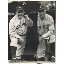 1932 Press Photo NY Yankee mgr Joe McCarthy & coach JimBurke