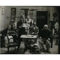 1919 Press Photo Filming of Movie Scene, Actors