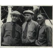 1929 Press Photo RL Mitchell,Bryan Newcomb,Ernest Bashom, aviators - neb52508