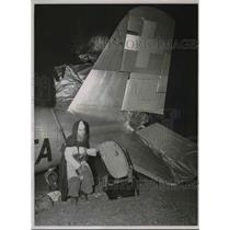 1939 Press Photo Swiss Airline plane wreck & Moroccon rescue troops