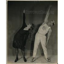 1922 Press Photo A Couple Exercising Upper Trunk and Arms - neb50787