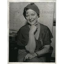1933 Press Photo Jessie Gibson Barber Actress divorce