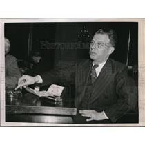 1939 Press Photo Wash.D.C. Maurice L Malkin, US Communist Party