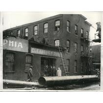 1932 Press Photo Fierce wind and rain storm damage in Philadelphia