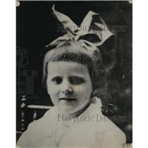 1922 Press Photo Young Dorothy Ormsbee at Age Seven