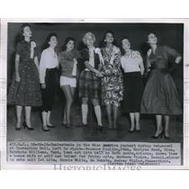 1916 Press Photo Contestants in the Ms America pageant during rehearsal at the