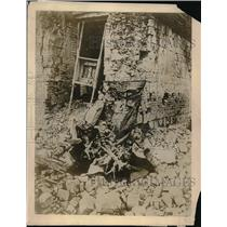1918 Press Photo Germany Hun Warfare Wreckage Of Village