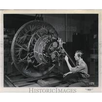 Press Photo NACA Lewis Flight Propulsion Labs, engine tests