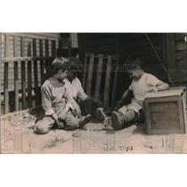 1920 Press Photo Children Playing Hot Weather Washington D.C.