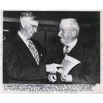 1953 Press Photo Alpheus Drinkwater, Harry Moore, reporter - neb60669