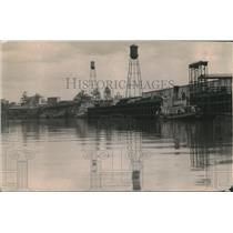 1919 Press Photo Docks & ships at Houston,Texas