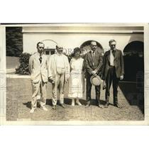 1921 Press Photo BM Manly, WH Jonston, Lilith Martin, SM Castleton & WF Kruse
