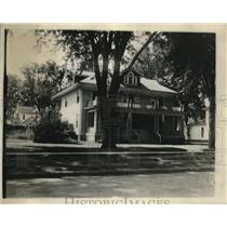 1921 Press Photo Former Home Of Banker Fred Claridge