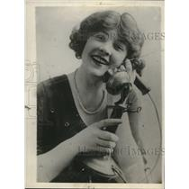 1930 Press Photo Mae Ayer, Actress