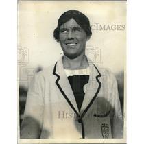 1923 Press Photo Miss Armfield, captain of the English Overseas Girls Hockey