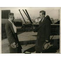 1930 Press Photo Robert Osborn, project designer, T. P. Wright, Chief Engineer